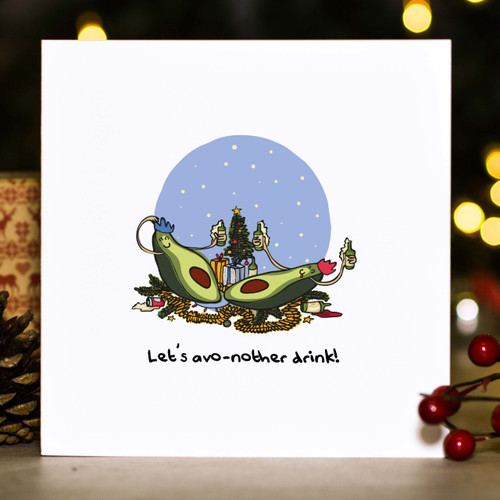 Buy Let's avo-nother drink! Christmas Card From The Crafty Giraffe, the home of unique and affordable gifts for loved ones...