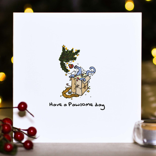 Buy Have a pawsome day Christmas Card From The Crafty Giraffe, the home of unique and affordable gifts for loved ones...