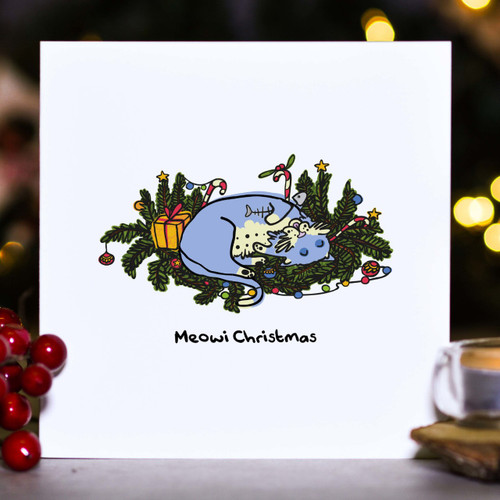 Buy Meowi Christmas Card From The Crafty Giraffe, the home of unique and affordable gifts for loved ones...