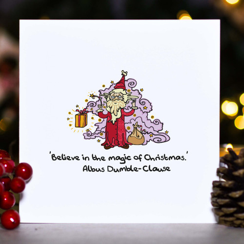 Buy Believe in the magic of Christmas - Card From The Crafty Giraffe, the home of unique and affordable gifts for loved ones...