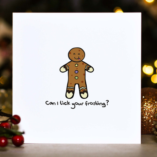 Buy Can I lick your frosting? Christmas Card From The Crafty Giraffe, the home of unique and affordable gifts for loved ones...