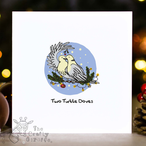 Two Turtle Doves - Christmas Card