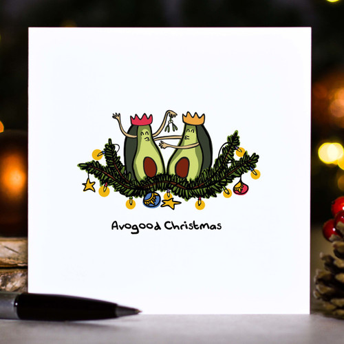 Buy Avogood Christmas Card From The Crafty Giraffe, the home of unique and affordable gifts for loved ones...