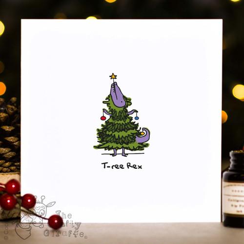 T-ree Rex Christmas Card