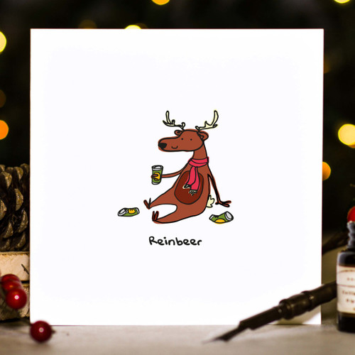 Buy Reinbeer Christmas Card From The Crafty Giraffe, the home of unique and affordable gifts for loved ones...
