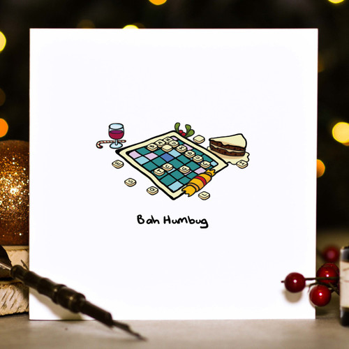Buy Bah Humbug Christmas Card From The Crafty Giraffe, the home of unique and affordable gifts for loved ones...
