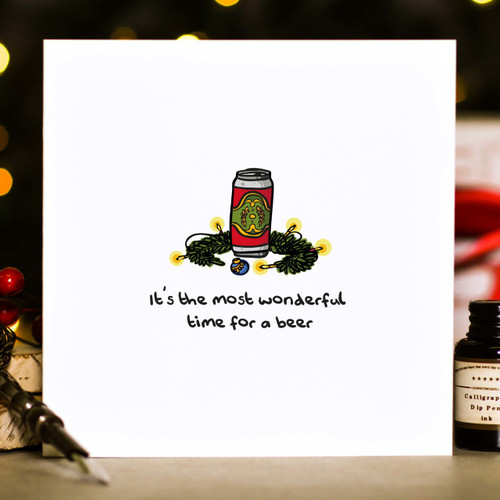Buy It's the most wonderful time for a beer Christmas Card From The Crafty Giraffe, the home of unique and affordable gifts for loved ones...
