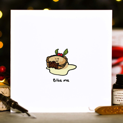Buy Bite me Christmas Card From The Crafty Giraffe, the home of unique and affordable gifts for loved ones...