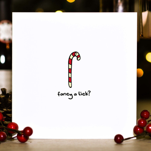 Buy Fancy a lick? Christmas Card From The Crafty Giraffe, the home of unique and affordable gifts for loved ones...