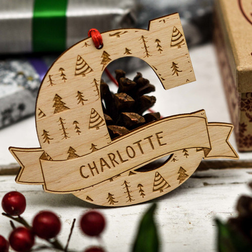 Buy Personalised Scandinavian Trees Initial Decoration From The Crafty Giraffe, the home of unique and affordable gifts for loved ones...