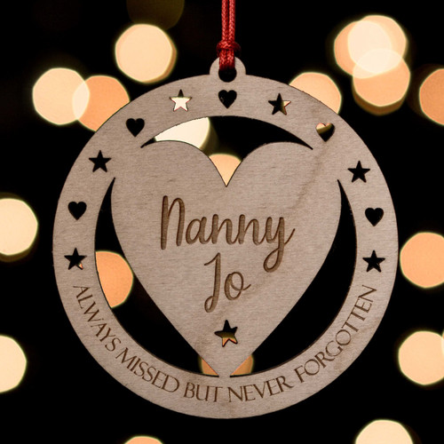 Buy Personalised Never Forgotten Remembrance Decoration From The Crafty Giraffe, the home of unique and affordable gifts for loved ones...