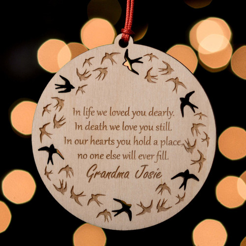 Buy Personalised Swallows Remembrance Decoration From The Crafty Giraffe, the home of unique and affordable gifts for loved ones...