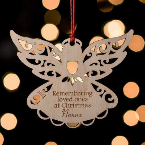 Buy Personalised Remembrance Angel Decoration From The Crafty Giraffe, the home of unique and affordable gifts for loved ones...