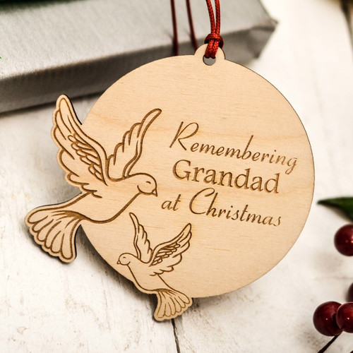 Buy Personalised Doves Remembrance Decoration From The Crafty Giraffe, the home of unique and affordable gifts for loved ones...