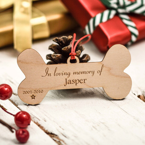 Buy Personalised Bone Remembrance Decoration From The Crafty Giraffe, the home of unique and affordable gifts for loved ones...