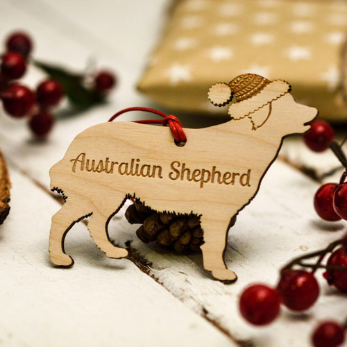 Personalised Australian Shepherd Decoration