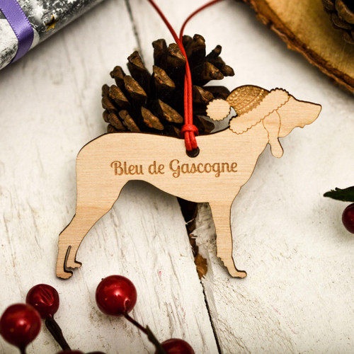Personalised Basset Bleu De Gascogne Decoration