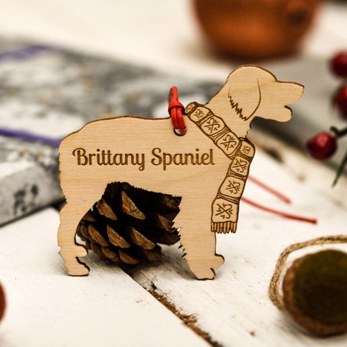 Personalised Brittany Spaniel Decoration