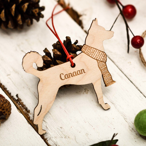 Personalised Canaan Dog Decoration