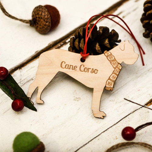 Personalised Cane Corso Decoration