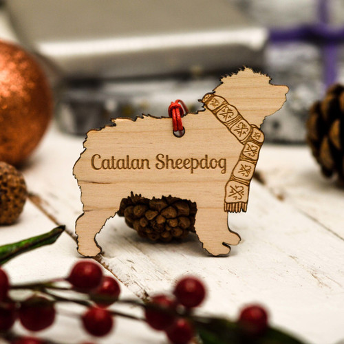 Personalised Catalan Sheepdog Decoration