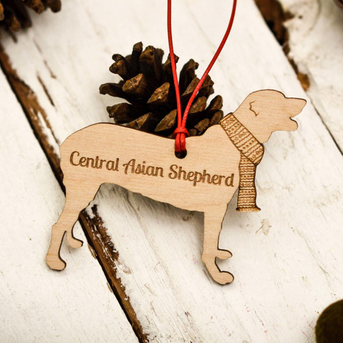 Personalised Central Asian Shepherd Decoration