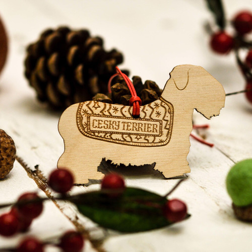 Personalised Cesky Terrier Decoration