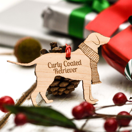 Personalised Curly Coated Retriever Decoration