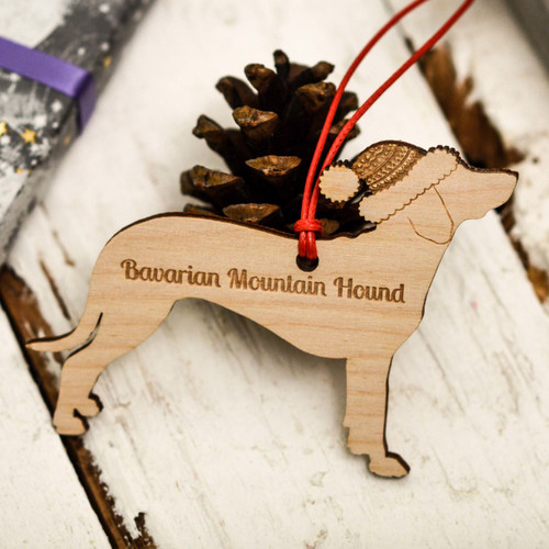 Personalised Bavarian Mountain Hound Decoration