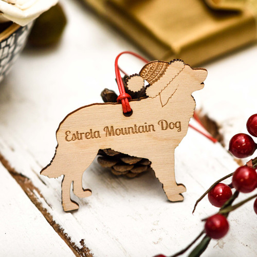 Personalised Estrela Mountain Dog Decoration