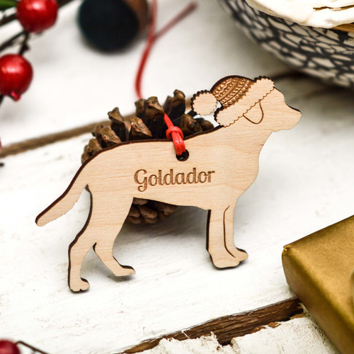 Personalised Goldador Decoration