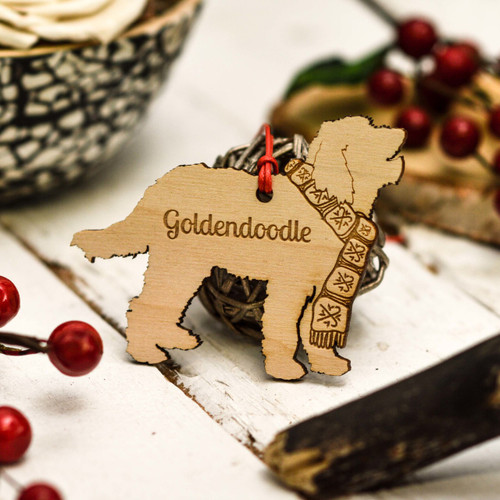 Personalised Goldendoodle Decoration