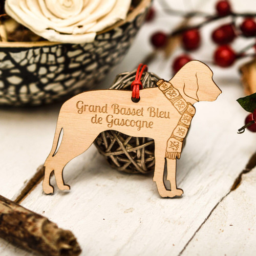 Personalised Grand Bleu De Gascogne Decoration