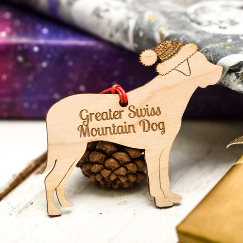 Personalised Greater Swiss Mountain Dog Decoration