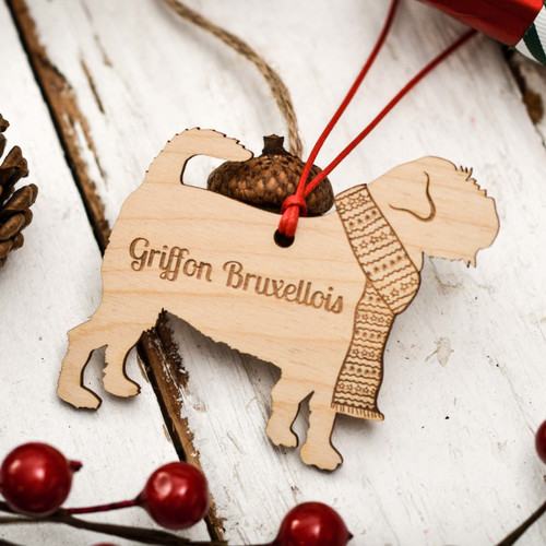 Personalised Griffon Bruxellois Decoration