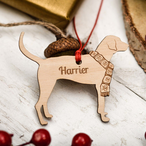 Personalised Harrier Decoration