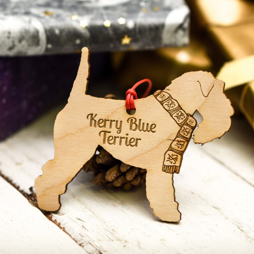 Personalised Kerry Blue Terrier Decoration