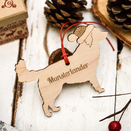 Personalised Munsterlander Decoration