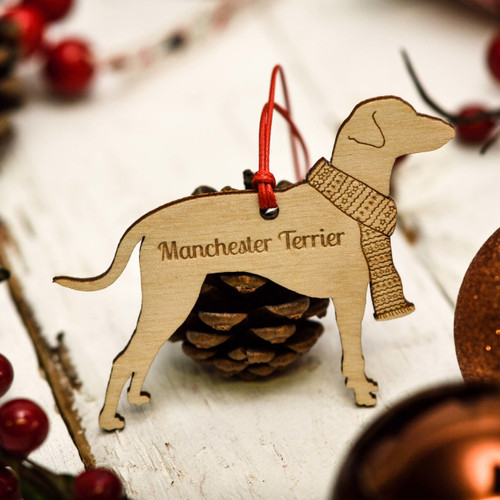 Personalised Manchester Terrier Decoration
