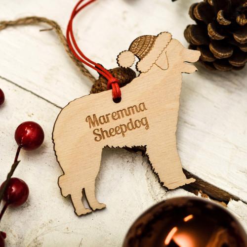 Personalised Maremma Sheepdog Decoration