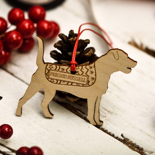 Personalised Parson Russell Decoration