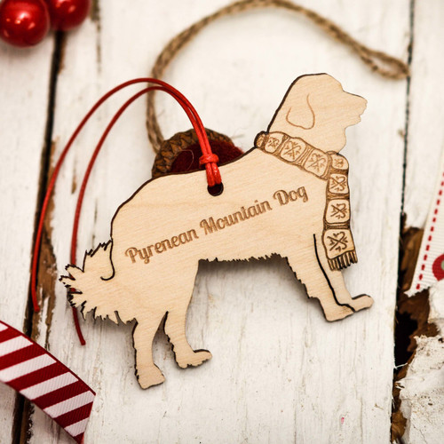 Personalised Pyrenean Mountain Dog Decoration