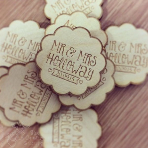 Personalised Flower Wedding Favour x 10