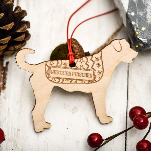 Personalised Austrian Pinscher Decoration