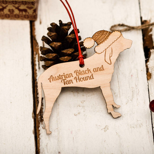Personalised Austrian Black and Tan Hound Decoration