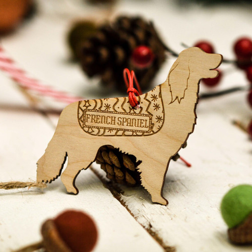 Personalised French Spaniel Decoration