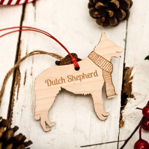Personalised Dutch Shepherd Decoration