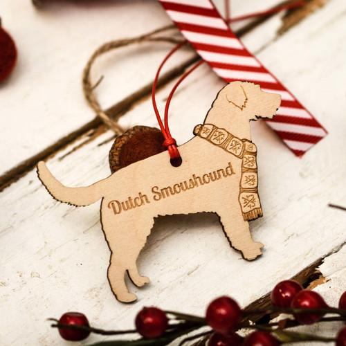 Personalised Dutch Smoushound Decoration