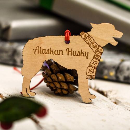 Personalised Alaskan Husky Decoration