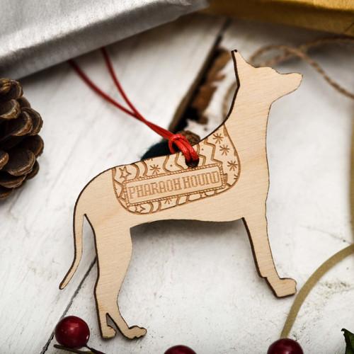 Personalised Pharaoh Hound Decoration